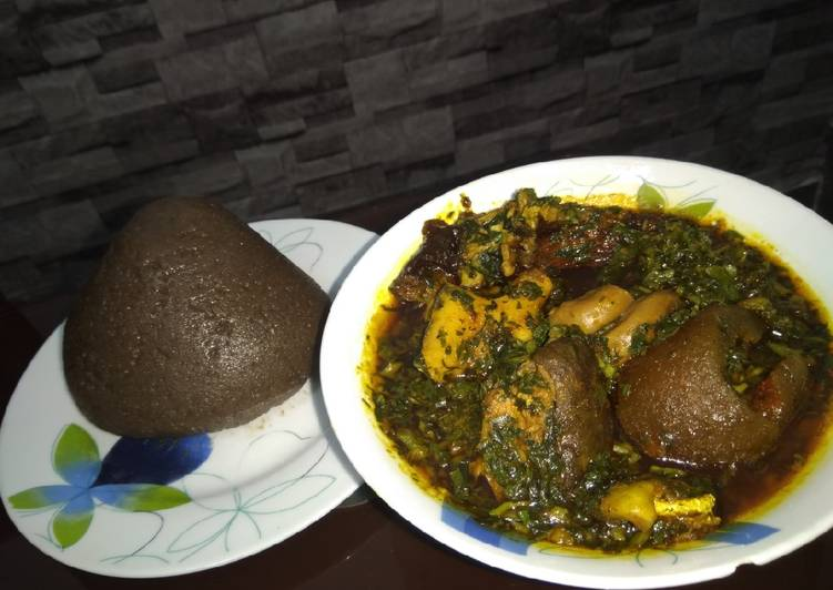 Afang soup and amala