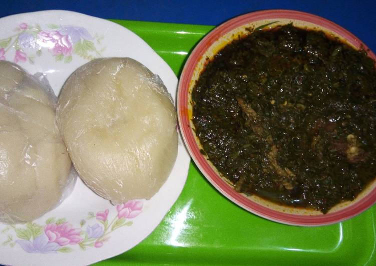 afang soup with fufu recipe main photo
