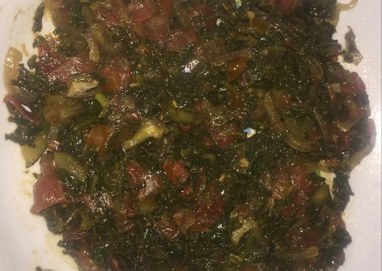 african vegetable managu recipe main photo