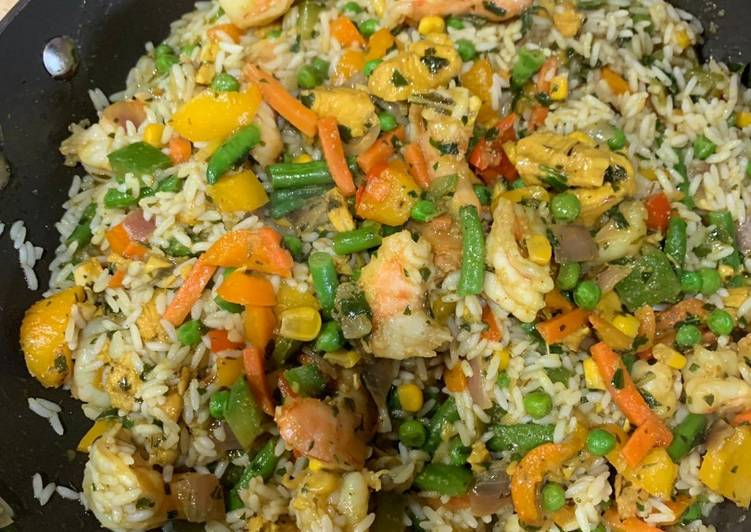 African Food Basmatic fried rice