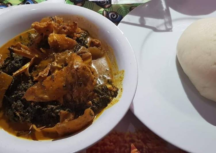 Traditional African Foods Bitterleaf soup