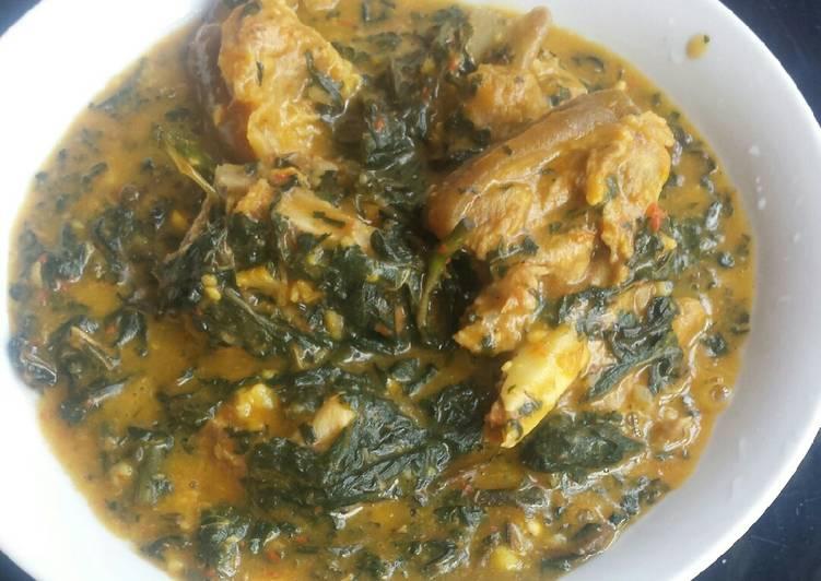African Dish Bitterleaf soup