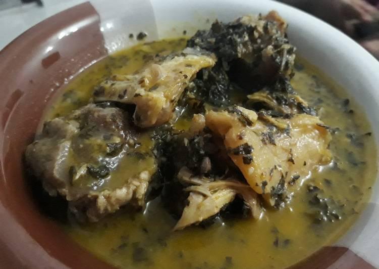 African Cuisine Bitterleaf soup