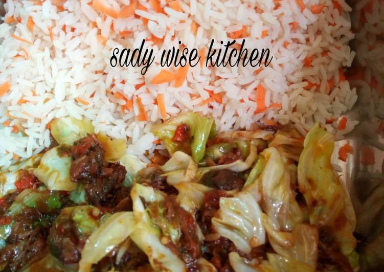 African Cuisine Carrot rice with vegetable soup