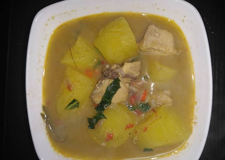 chicken pepper soup with sweet potato recipe main photo