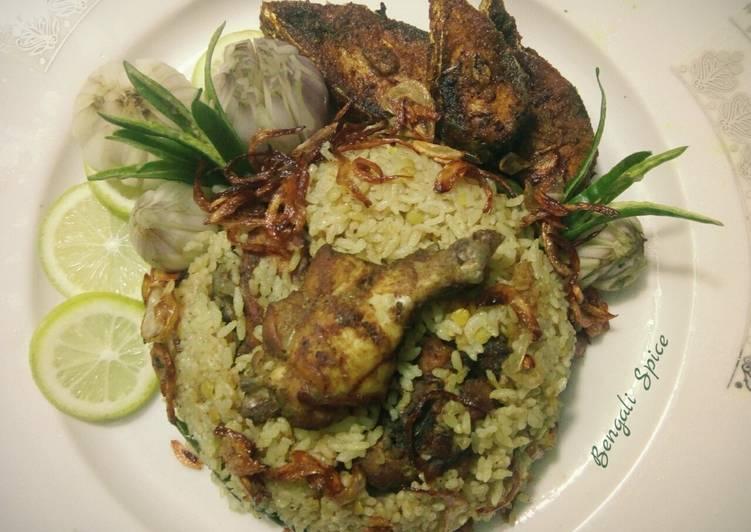 chicken yakhni pulau ইয়াখনি পোলাও indian traditional dish 💛 recipe main photo
