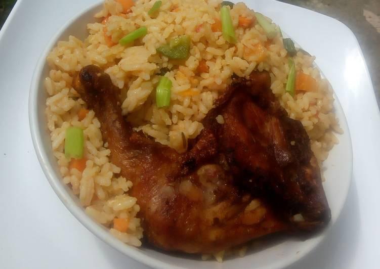 African Food Coconut jollof rice
