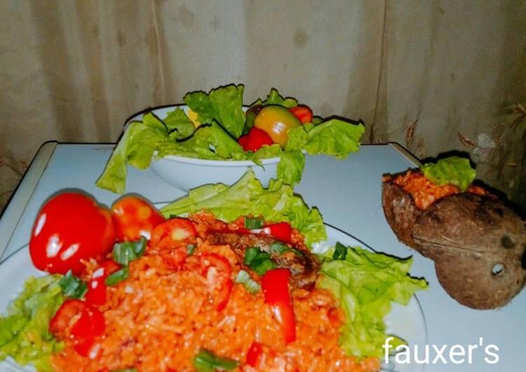 African Dish Coconut jollof rice