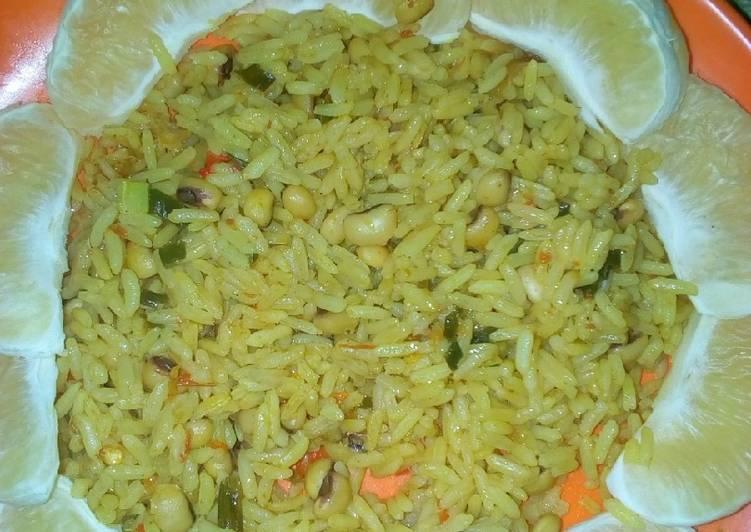 coconut jollof rice with lemon recipe main photo