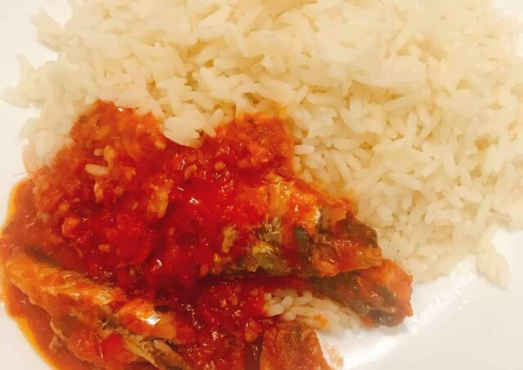 Traditional African Foods Coconut rice and sardine sauce