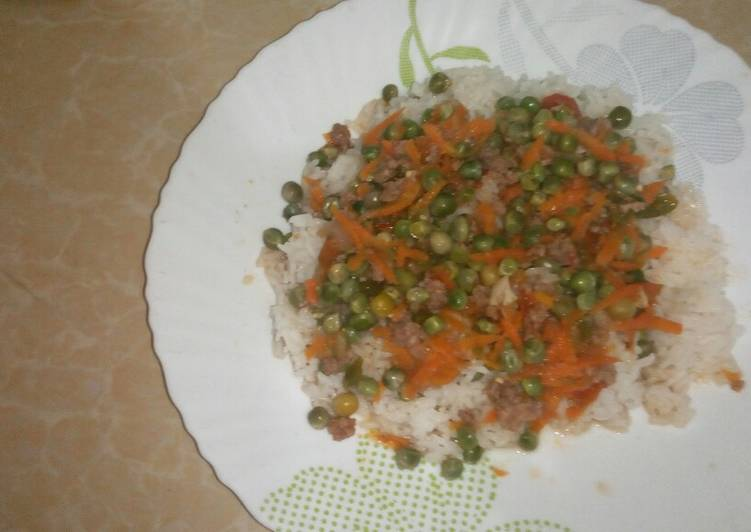 coconut rice mince meat stew recipe main photo