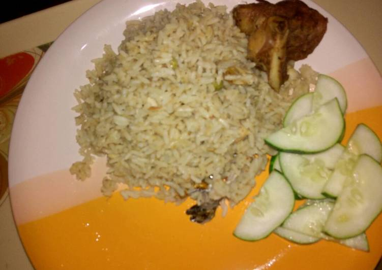 coconut rice with turkey and cucumber recipe main photo