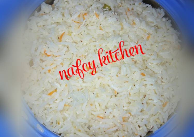 West African Foods Coconut rice with vegt