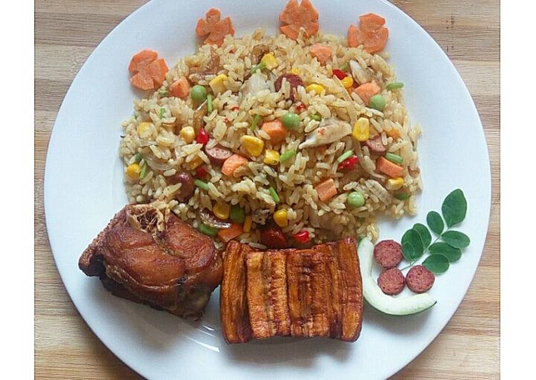 Coconut vegetable rice