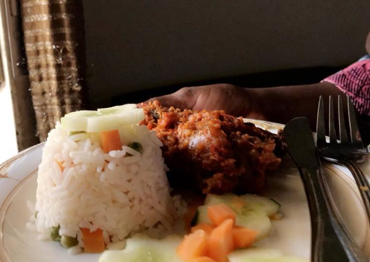 Coconut White Rice and chicken stew