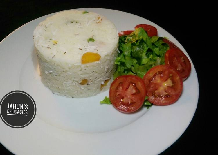 African Dish Coconut White Rice