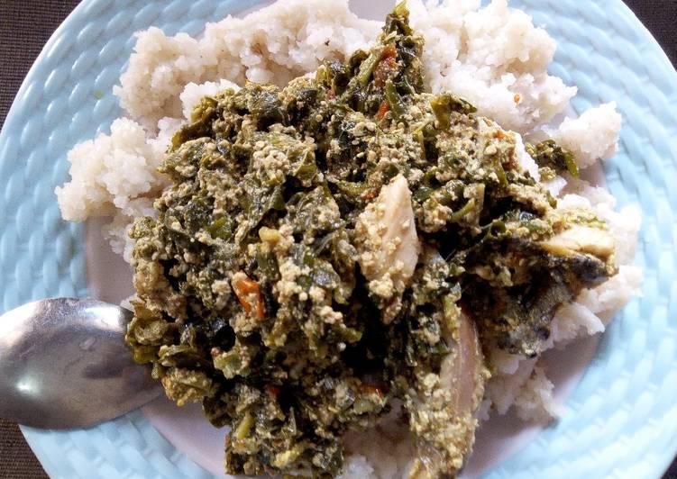 couscous with egusi soup recipe main photo