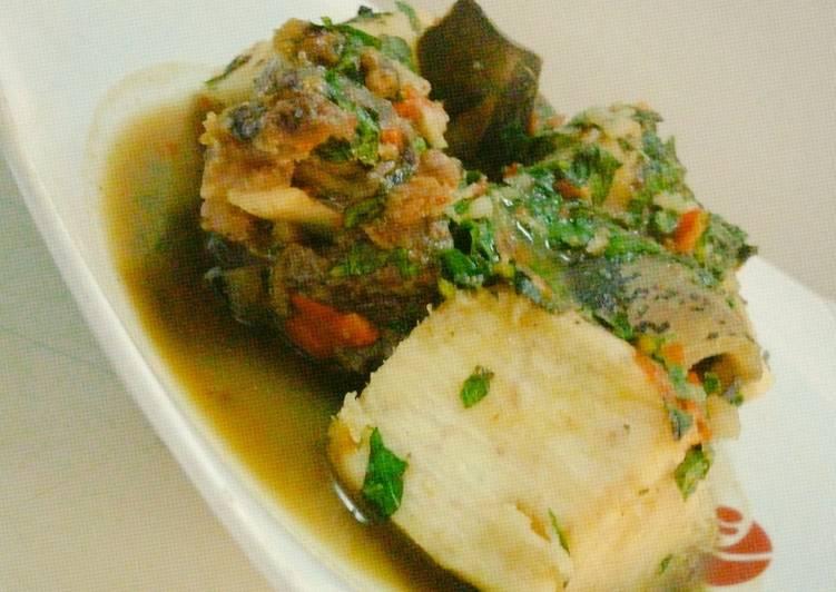 cow leg pepper soup and yam recipe main photo