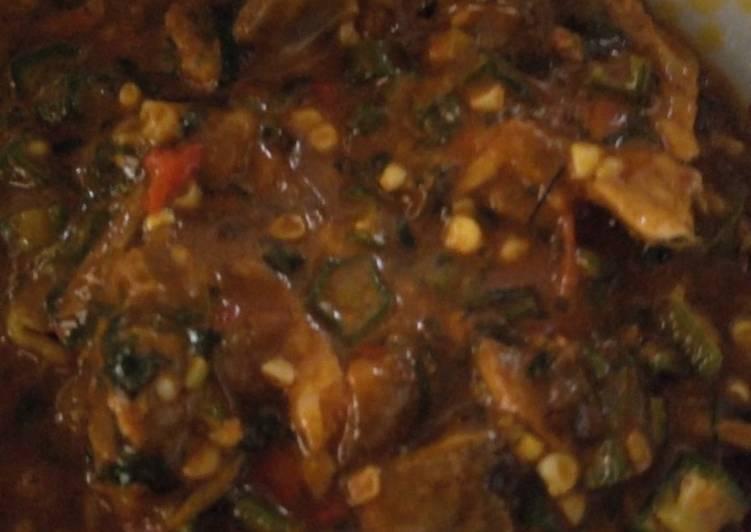 delicious okra ogbono and ugba soup recipe main photo