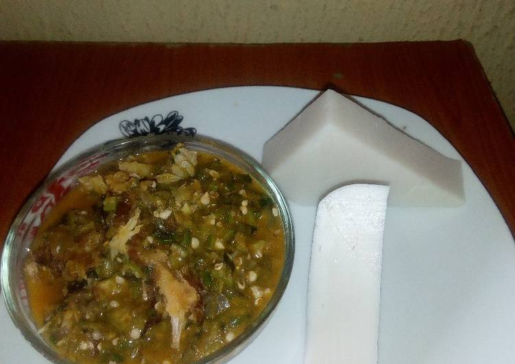 dry fish okro soupwith agidu recipe main photo