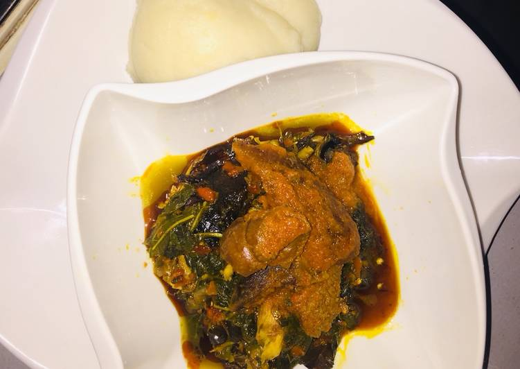 easy efo riro with poundo yam recipe main photo 1