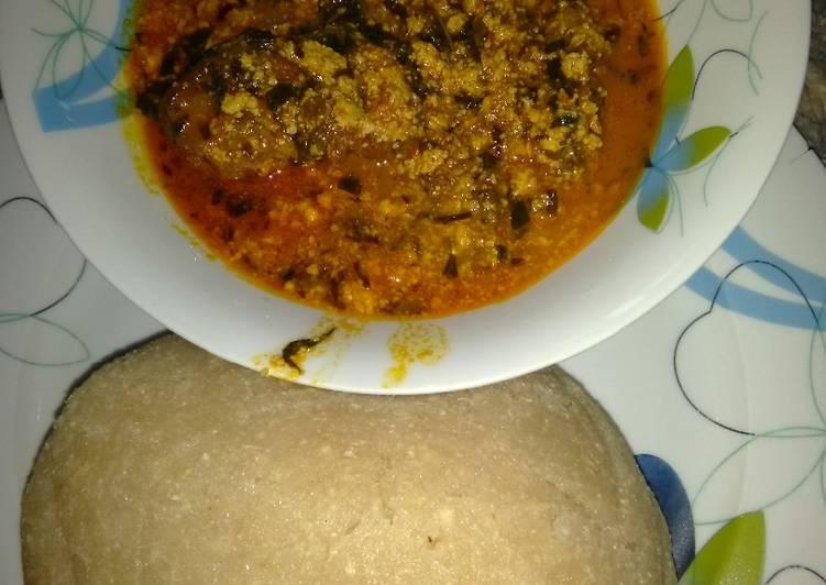 eba and egusi soup recipe main photo 2