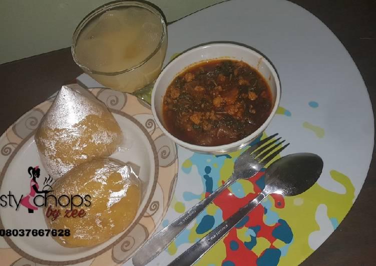 eba and egusi soup recipe main photo