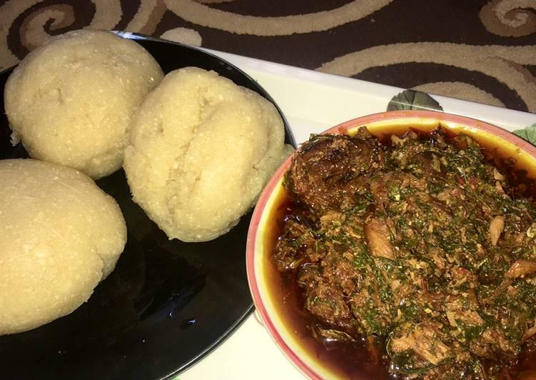 African Cuisine Eba & egusi soup🌶🥣🍽