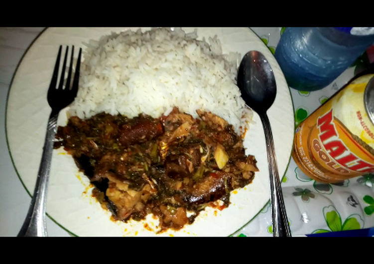 African Cuisine Efe Riro(Vegetable with Rice)