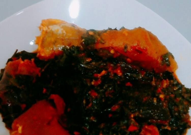 efo riro spinach stew recipe main photo