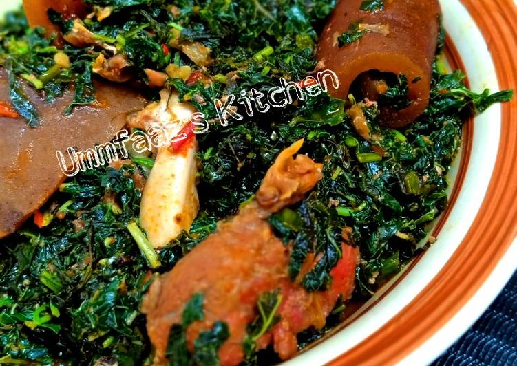 Traditional African Foods Eforiro soup