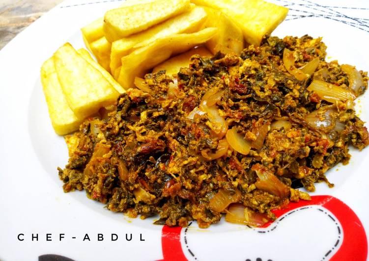 African Cuisine Egg sauce