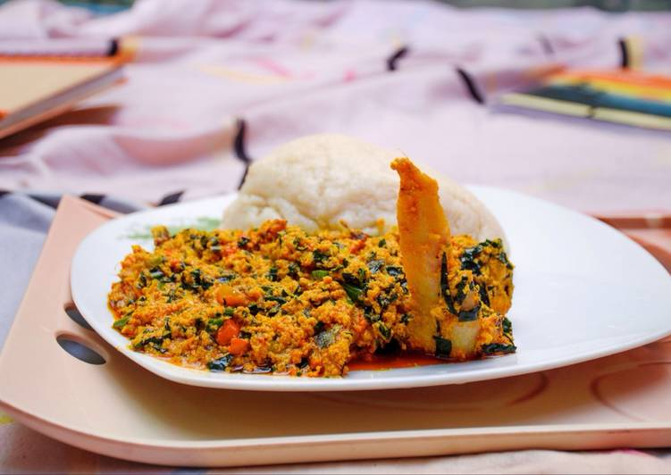 egusi and vegetable recipe main photo