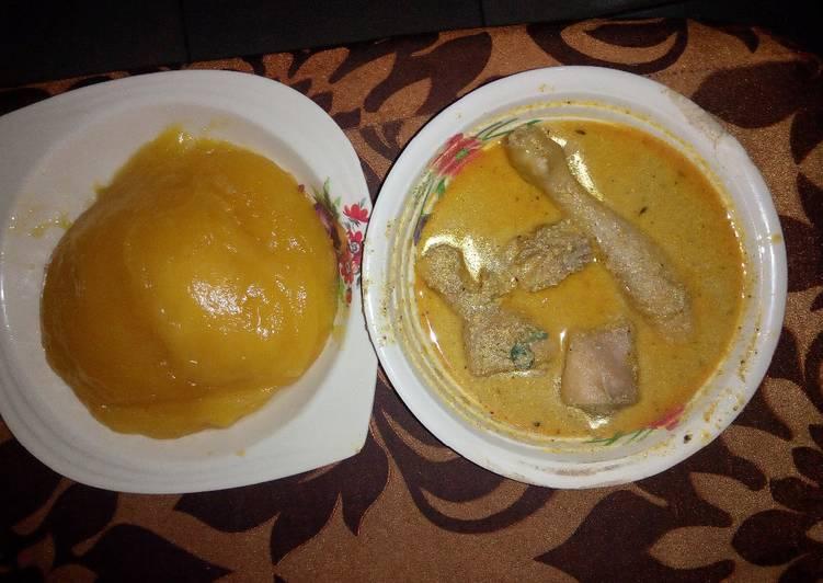 egusi pepper soup and starch recipe main photo