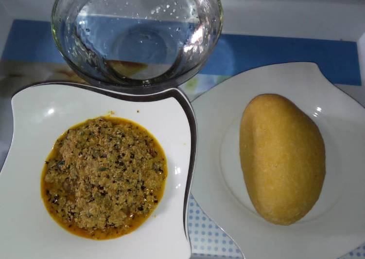 egusi soap and eba recipe main photo