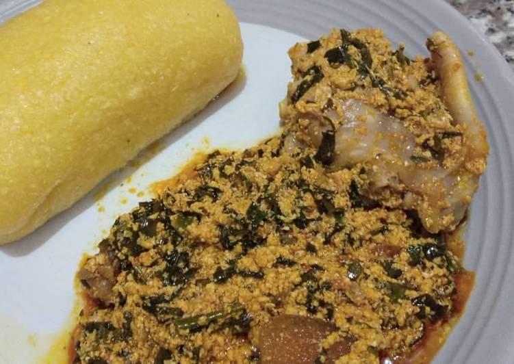egusi soup and eba recipe main photo