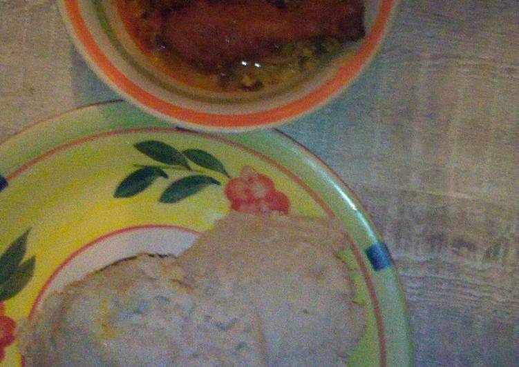 egusi soup chicken and pounded yam recipe main photo 1