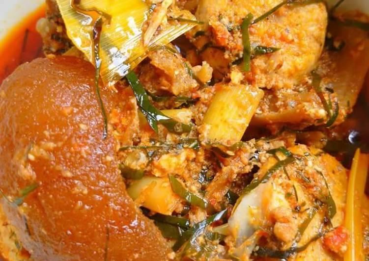 egusi soup with achara and ukazi leaves recipe main photo 1