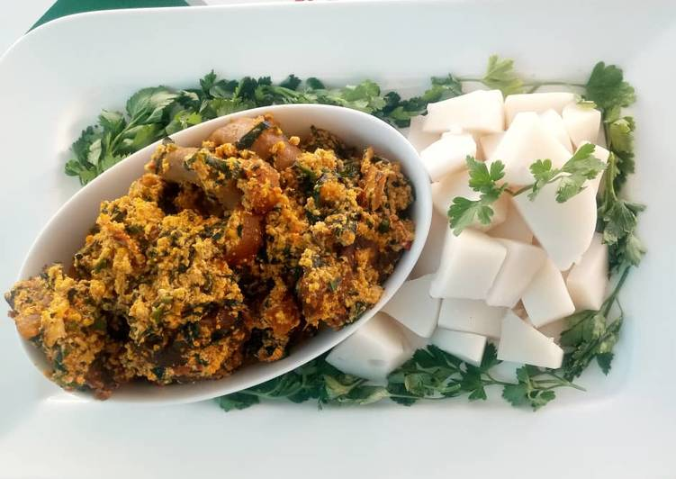 egusi soup with agidi recipe main photo