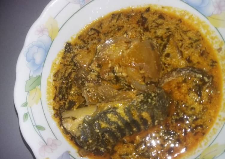 egusi soup with cow head recipe main photo