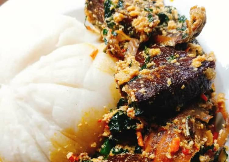 egusi soup with fufu recipe main photo 1