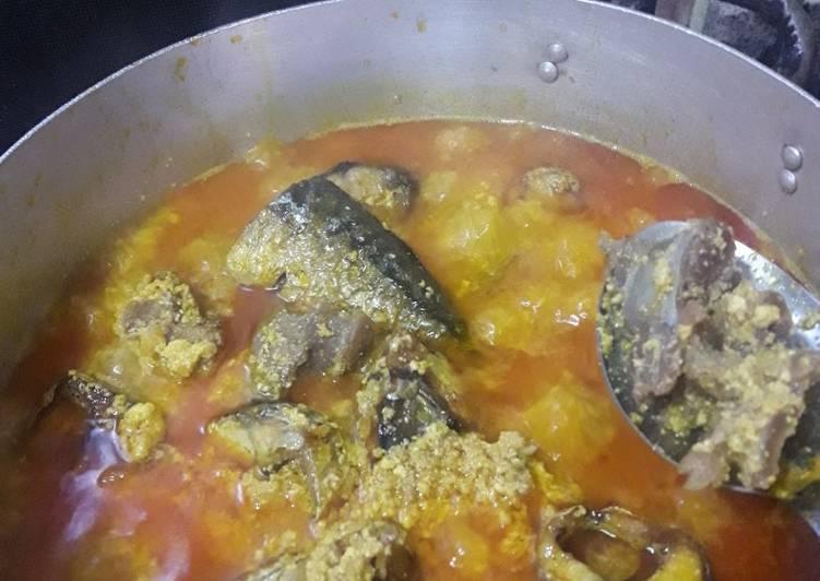 egusi soup with oziza leaf recipe main photo