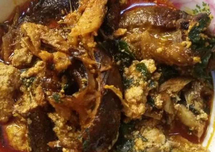 egusi soup with smoked fish recipe main photo