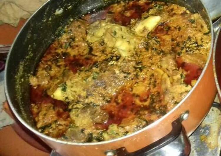 egusi soup with ukazi leave recipe main photo 1