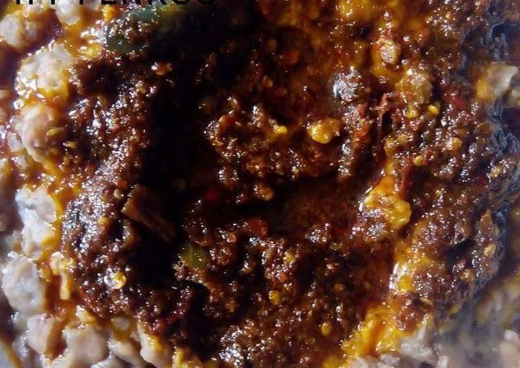 African Dish Ewa Agoyin