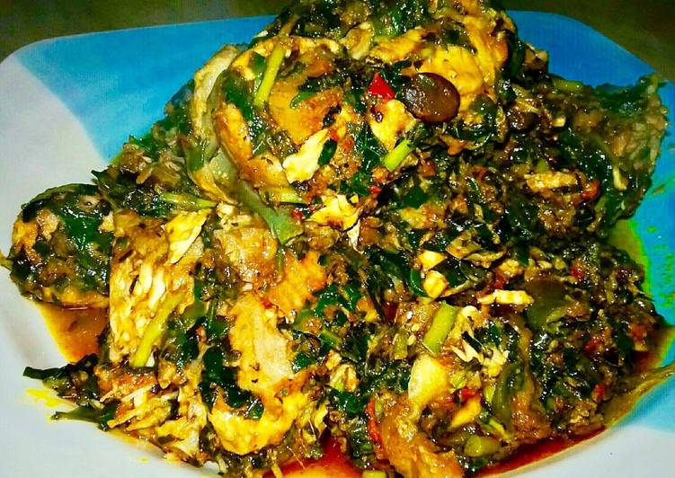 African Dish Fresh Catfish Vegetable Soup