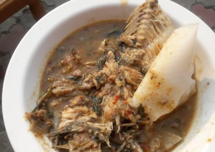 fresh fish pepper soup and eko recipe main photo