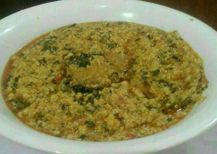 fried fish egusi soup recipe main photo