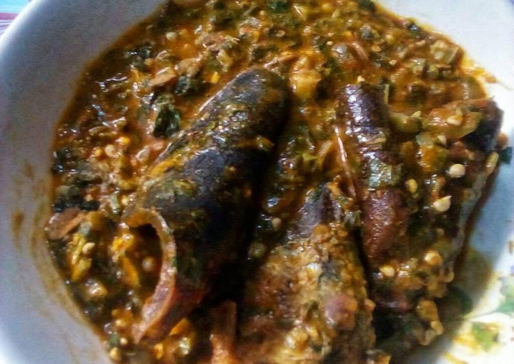fried okro soup recipe main photo