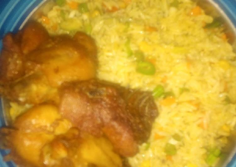 fried rice and chicken recipe main photo 4